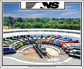 Tin Sign NS Turntable