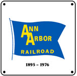 Ann Arbor Blue Flag 6x6 Tin Sign