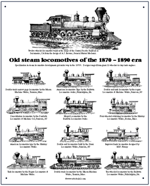 Tin Sign 13 Old Steamers
