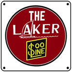 SOO Laker Logo 6x6 Tin Sign