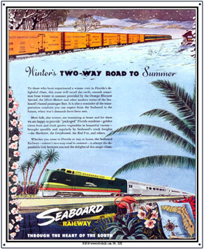 Tin Sign Seaboard Summer/Winter