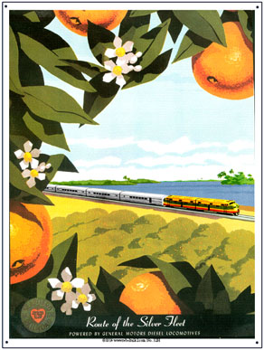 Tin Sign Seaboard Oranges