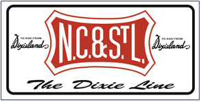 License Plate NC&StL Logo
