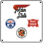 Golden State Logos 6x6 Tin Sign