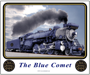 Mouse Pad Blue Comet