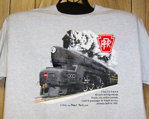 T-Shirt PRR T-1 steam locomotive