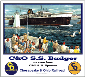 Mouse Pad C&O Badger Ship