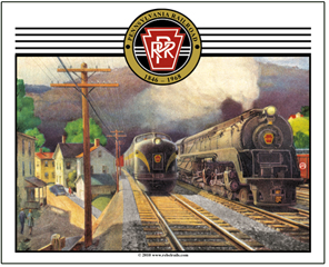 Mouse Pad PRR steam/diesel scene