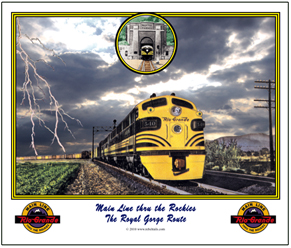 Mouse Pad Rio Grande racing storm
