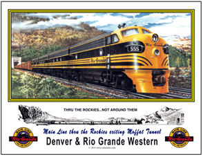 Mouse Pad Rio Grande F-diesel out of Moffat
