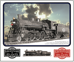Mouse Pad S&A Steam Locomotive