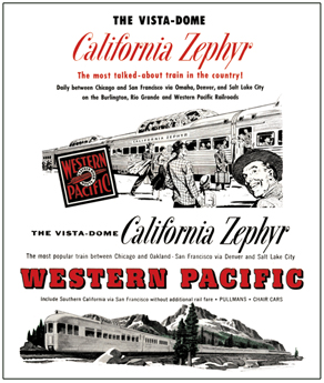 Tin Sign WP California Zephyr