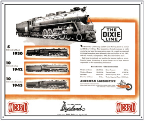 Tin Sign N.C.& St.L ALCO Ad