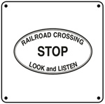 Stop Look & Listen 6x6 Tin Sign
