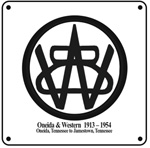 Oneida & Western Logo 6x6 Tin Sign