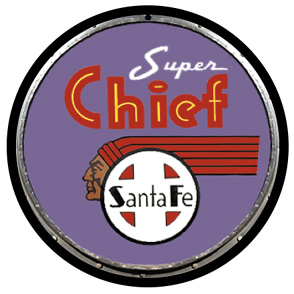 Santa Fe early Purple Super Chief Drumhead round