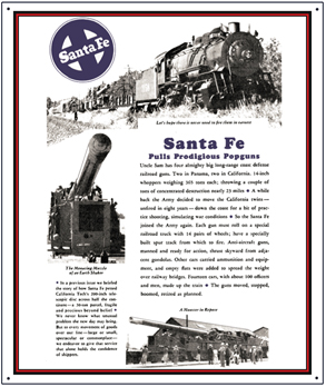 Tin Sign Santa Big Gun Movement