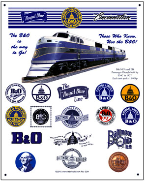Tin Sign B&O Historic Logos