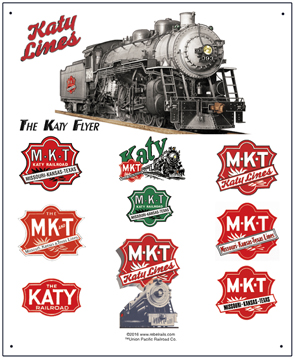 Tin Sign Katy Historic Logos