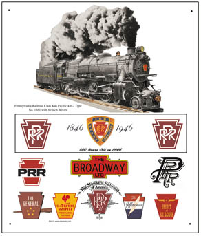 Tin Sign PRR Historic Logos