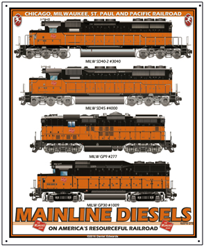 Tin Sign Milwaukee diesels