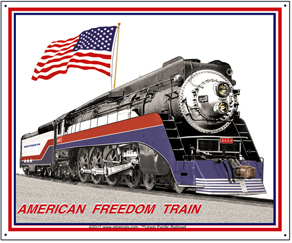 Tin Sign American Freedom Train