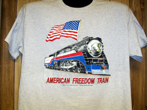 T-shirt American Freedom Train Ash Tee