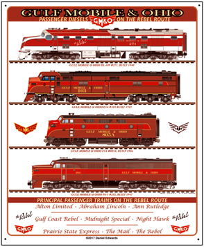 Tin Sign GM&O Diesels