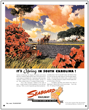 Tin Sign Seaboard Spring