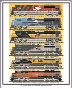Tin Sign Union Pacific Heritage Diesels