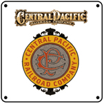Central Pacific Logo 6x6 tin sign