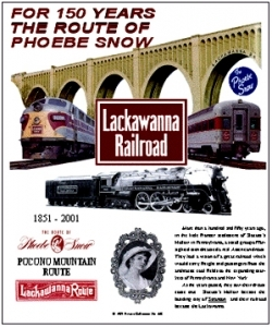 Tin Sign Lackawanna 150th