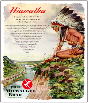 Tin Sign Milwaukee Hiawatha Indian
