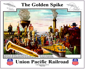 Tin Sign UP Golden Spike