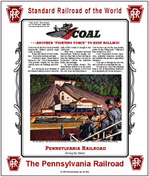 Tin Sign PRR Coal