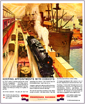 Tin Sign PRR Dock Scene