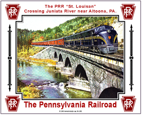 Tin Sign PRR Bridge