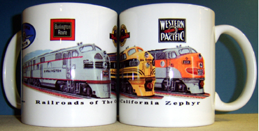 Coffee Mug California Zephyr Railroads