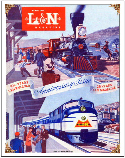 TRAIN  L/&N LOUISVILLE /& NASHVILLE RAILROAD TIN SIGN