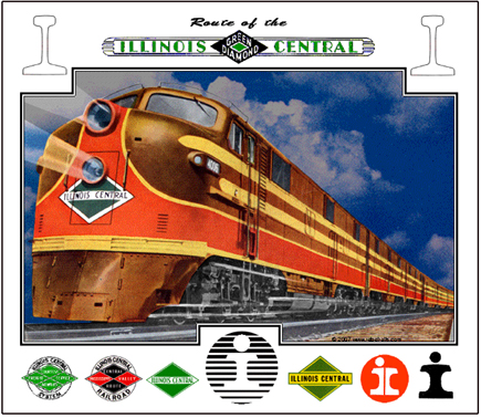 Ic Illinois Central City Of New Orleans City Of Miami