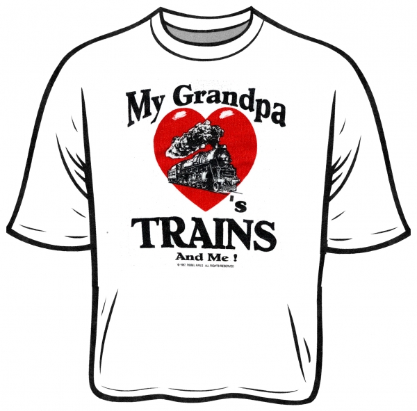 T-shirt Grandpa Loves Trains & Me