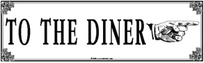 Tin Sign To Diner Right
