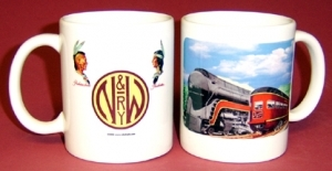 Coffee Mug N&W Passing trains