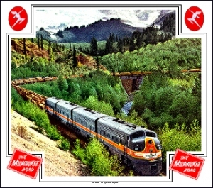 Mouse Pad Milw Mt Rainer Log Train