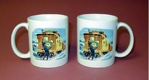 Coffee Mug Christmas Caboose