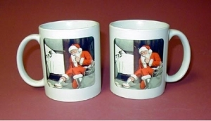 Coffee Mug Santa Milk for Chessie