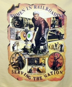 T-Shirt Women In Railroading