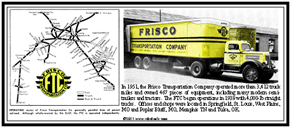 Tin Sign Frisco Truck Line