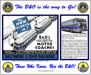 Tin Sign B&O BUS