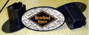 Hitch Cover Reading Logo